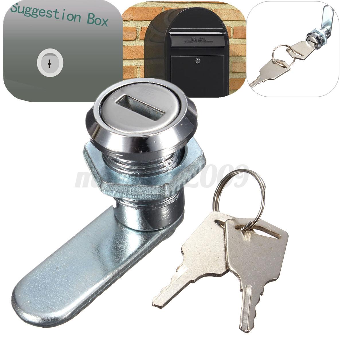 Cam lock file cabinet desk drawer locker 2 keys for for Cam lock kitchen cabinets