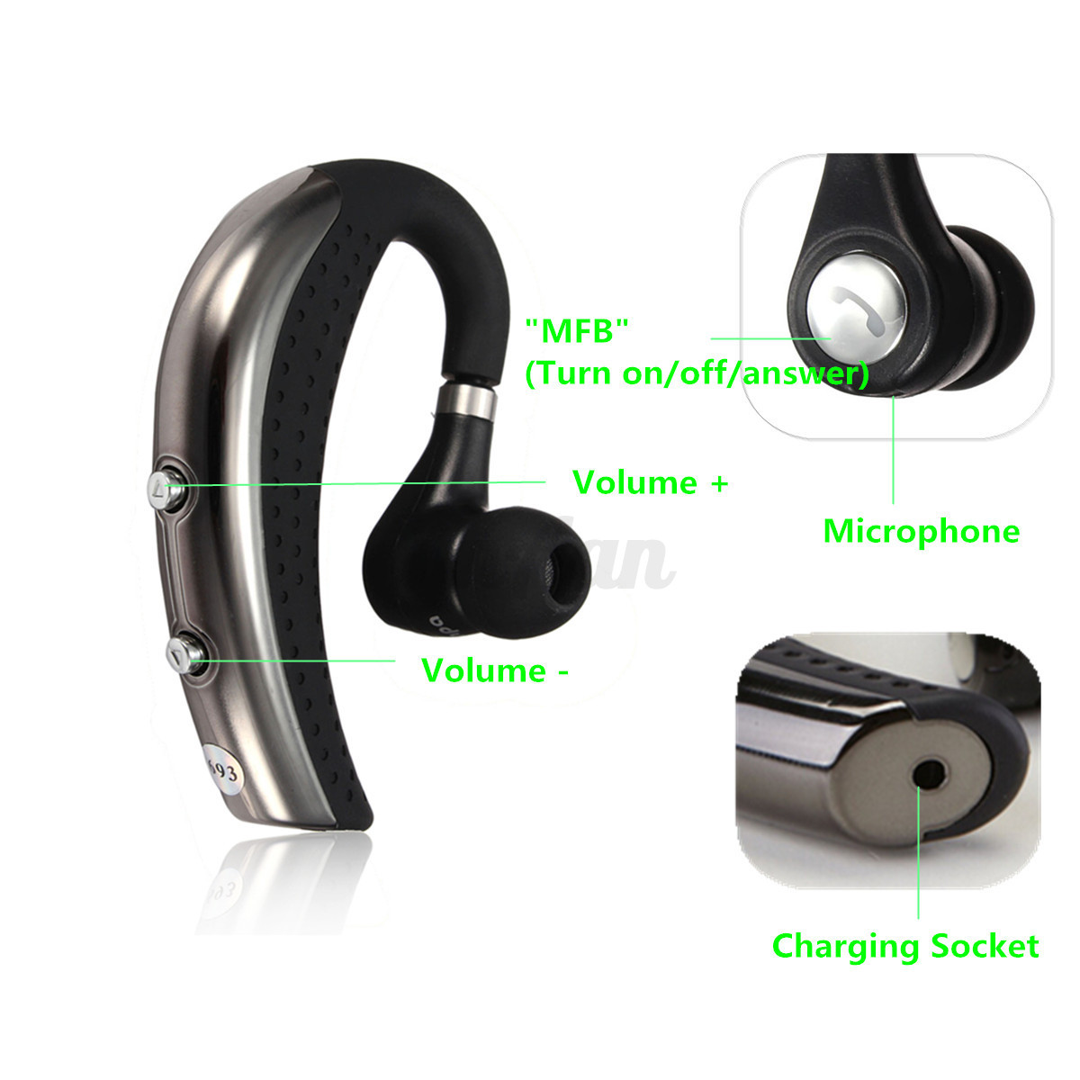 bluetooth 4 0 couteur casque st r o sans fil headset main libre pr iphone 6 6s ebay. Black Bedroom Furniture Sets. Home Design Ideas