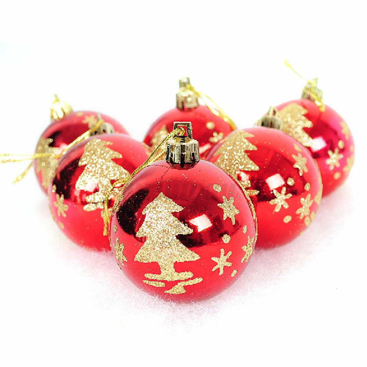 Decorative Christmas Ball Ornaments: Ball Baubles Hanging Christmas Xmas Tree Party Gift