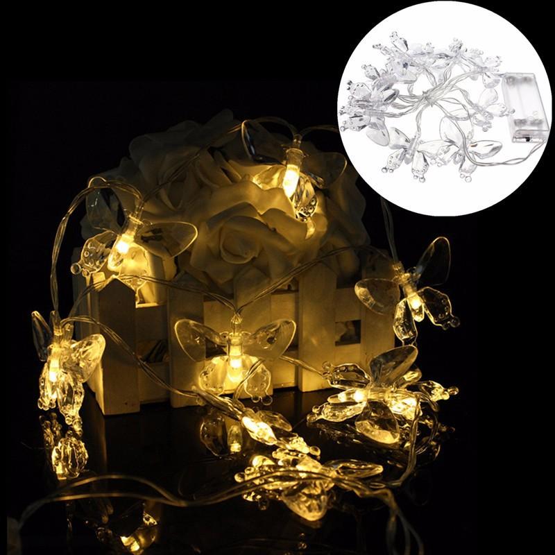 1m 10 led fairy string lights pink butterfly lamp. Black Bedroom Furniture Sets. Home Design Ideas