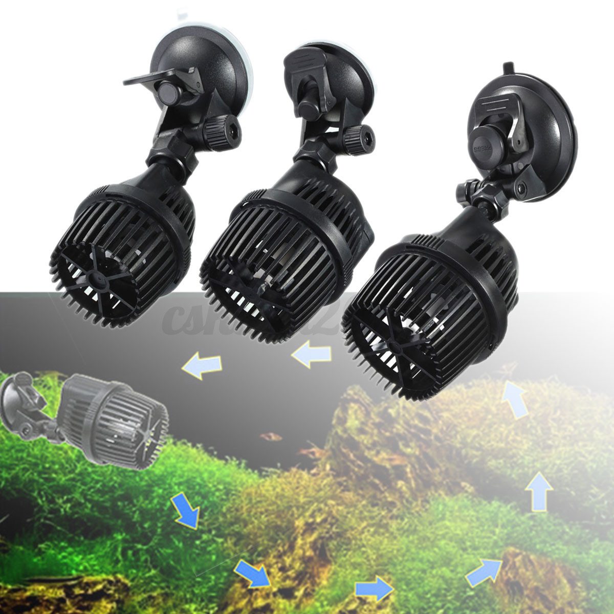 5 12 20w 360 adjustment aquarium fish tank wavemaker for Fish tank wave maker