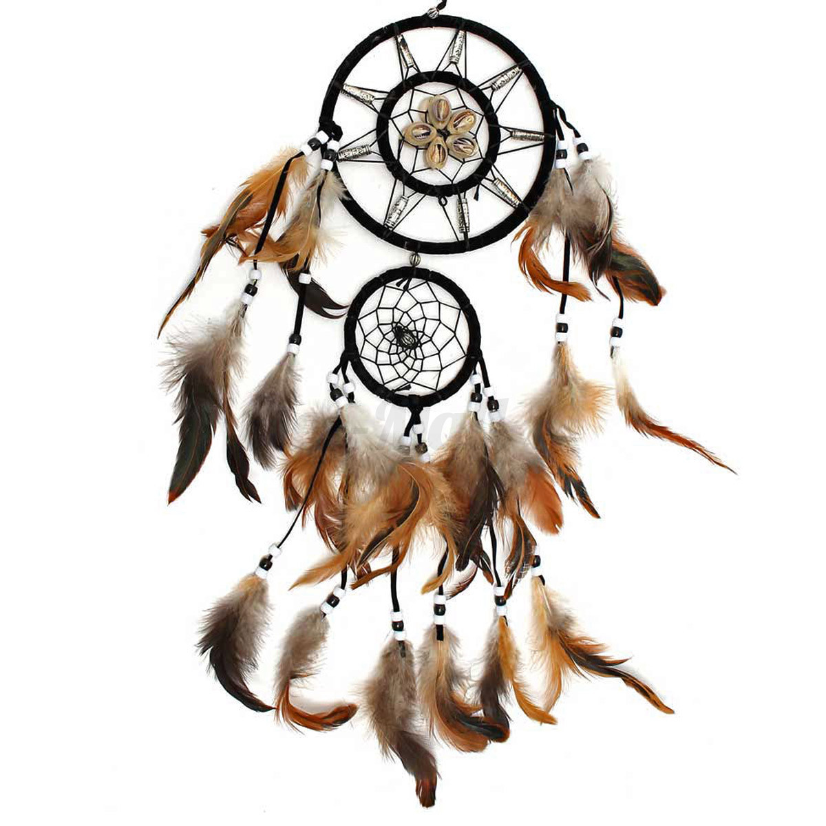 capteur de reve attrape attrapeur plume perle tenture dreamcatcher mural cadeaux ebay. Black Bedroom Furniture Sets. Home Design Ideas