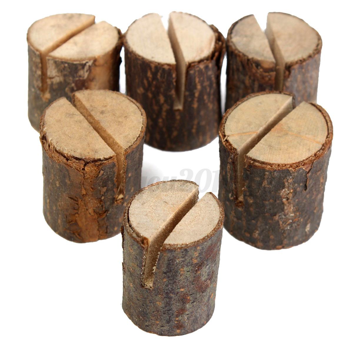 10x holz karten halter tischkartenhalter deko tisch karten for Holz dekoration hochzeit