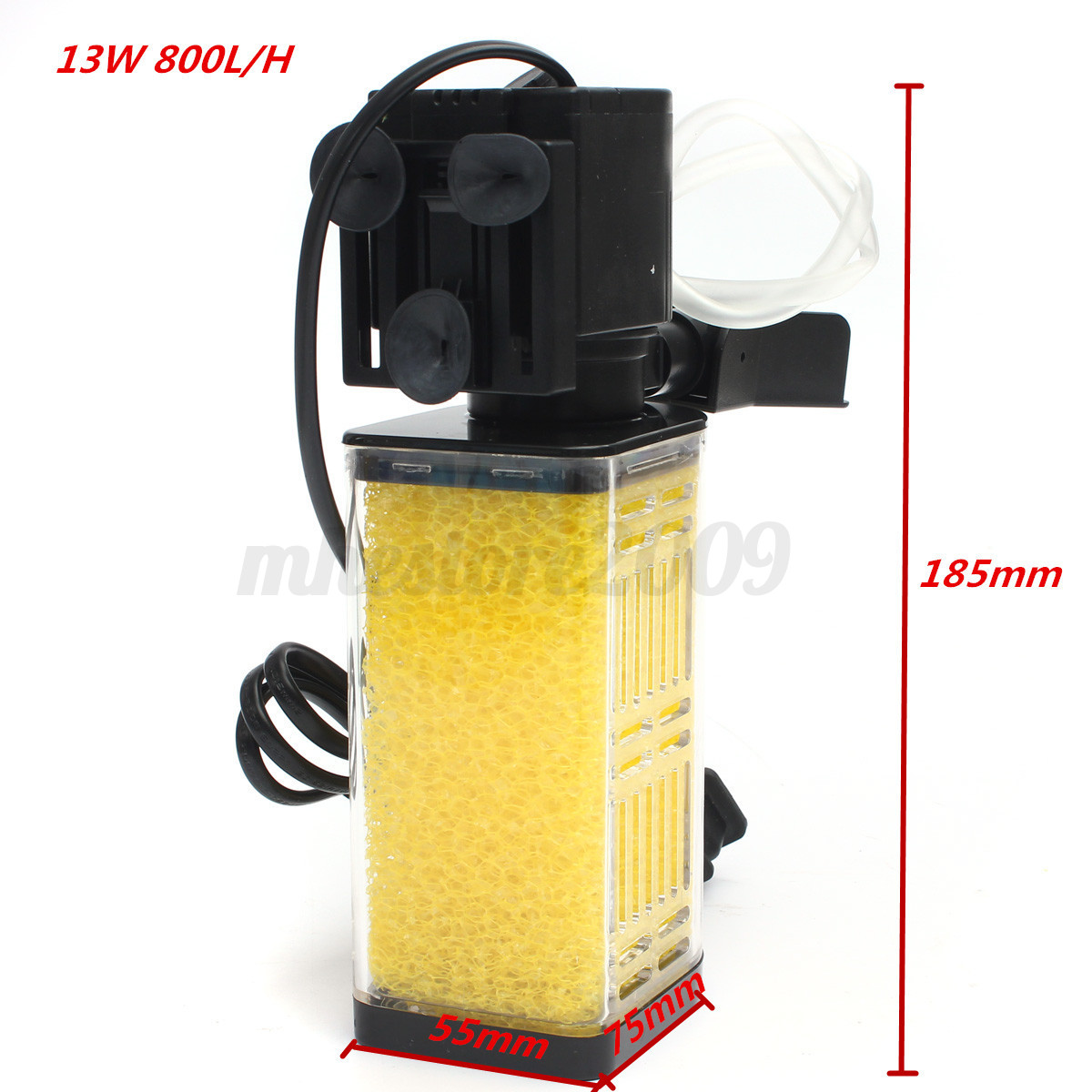 13w 800l h submersible water internal filter pump for for Water filter pump for fish pond