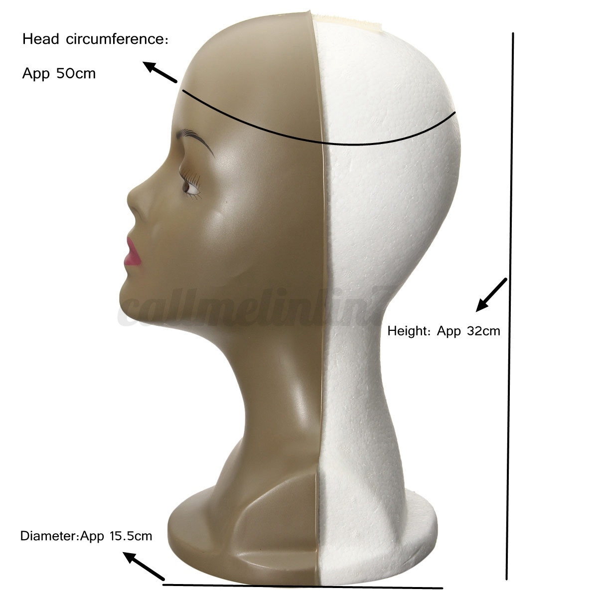 mannequin t te coiffer display chapeau perruque marotte. Black Bedroom Furniture Sets. Home Design Ideas
