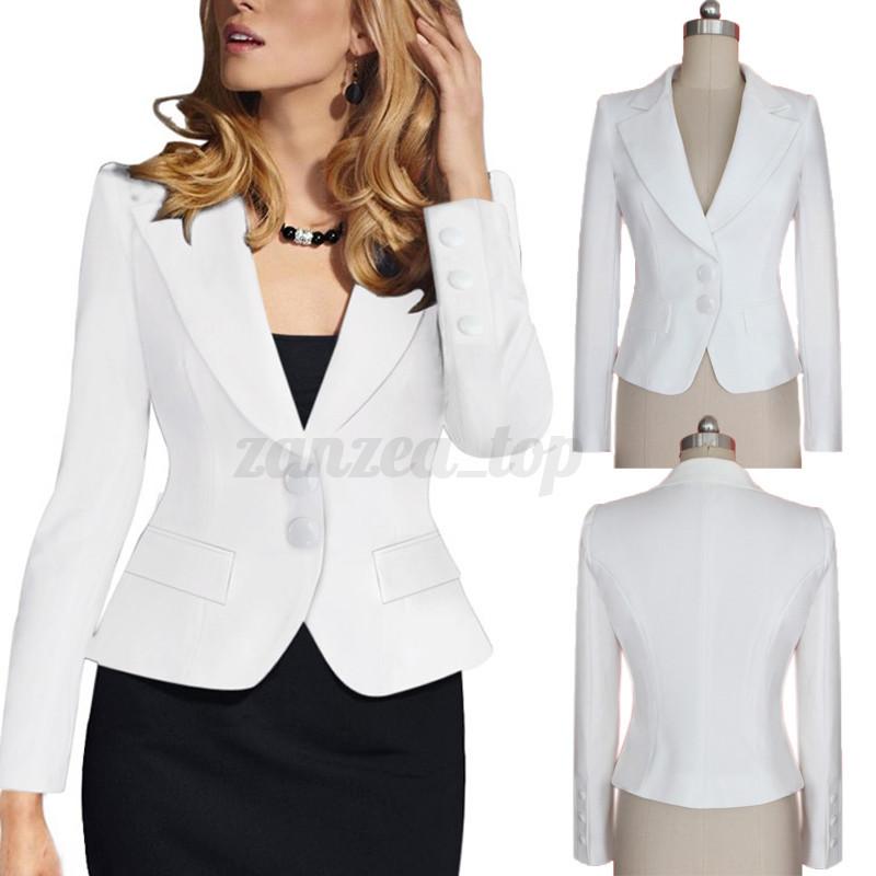 mode damen blazer cardigan business ol anzug jacke mantel coats suits s m l xl ebay. Black Bedroom Furniture Sets. Home Design Ideas