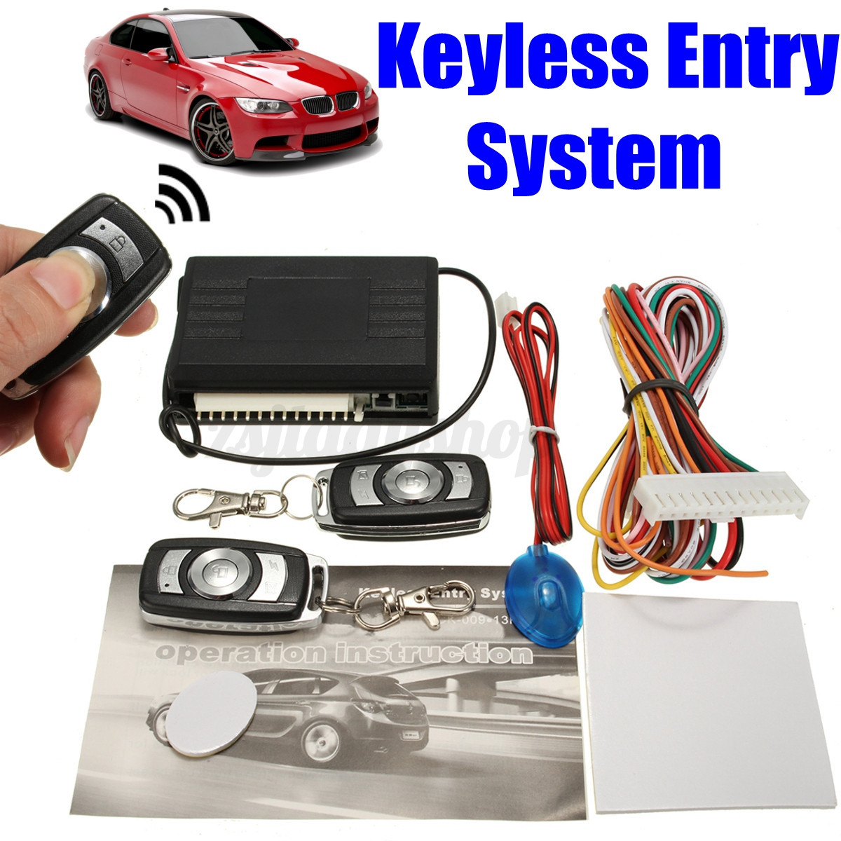 Universal car remote central kit door lock locking vehicle for Keyless entry system