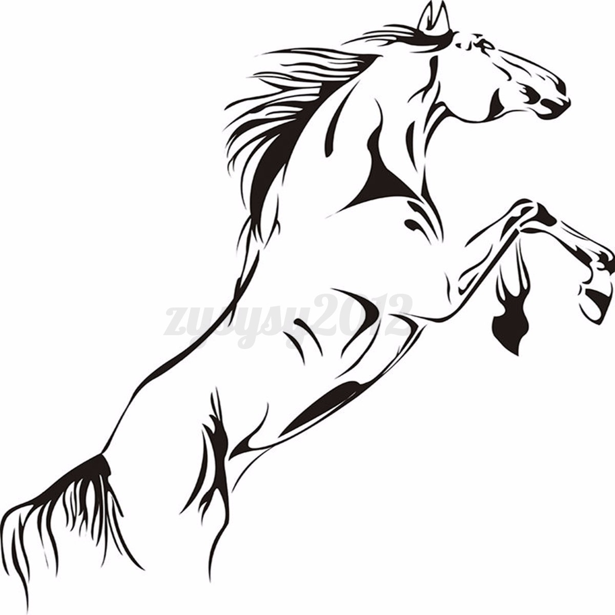 Details about Animal Running Horse Wall Stickers Bedroom Home Art ...