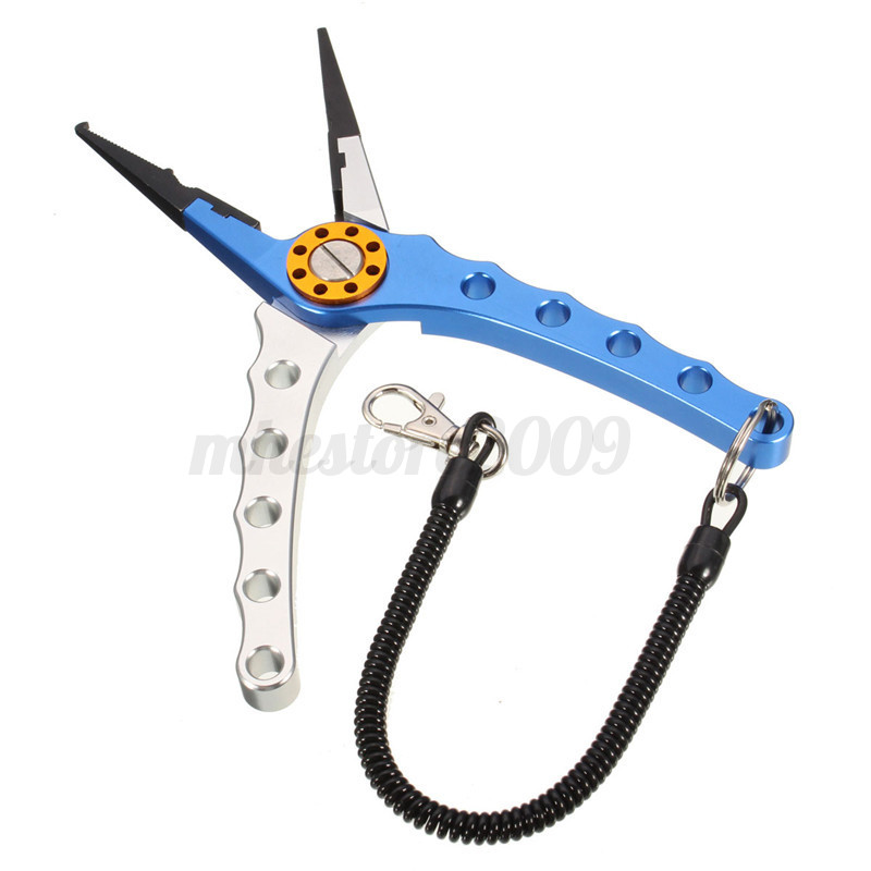 7 9 aluminum fishing pliers tackle tool hook remover line for Fish hook remover