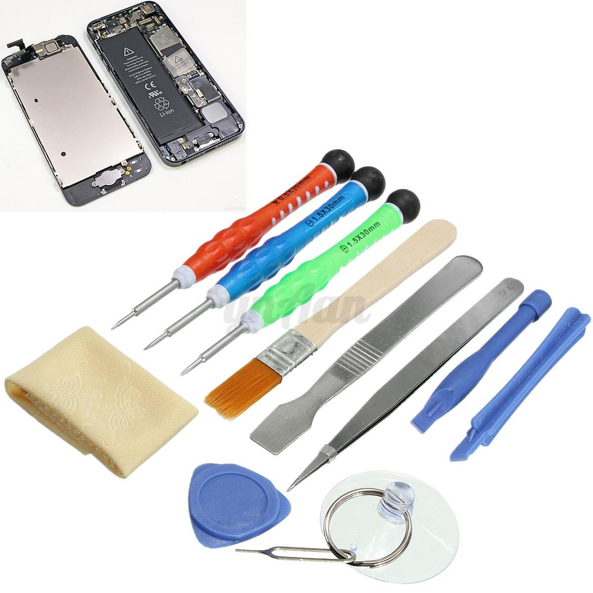 12 in 1 repair tools kit screwdrivers set for iphone 4s 5 5c 5s 6 6s plus lumia ebay. Black Bedroom Furniture Sets. Home Design Ideas