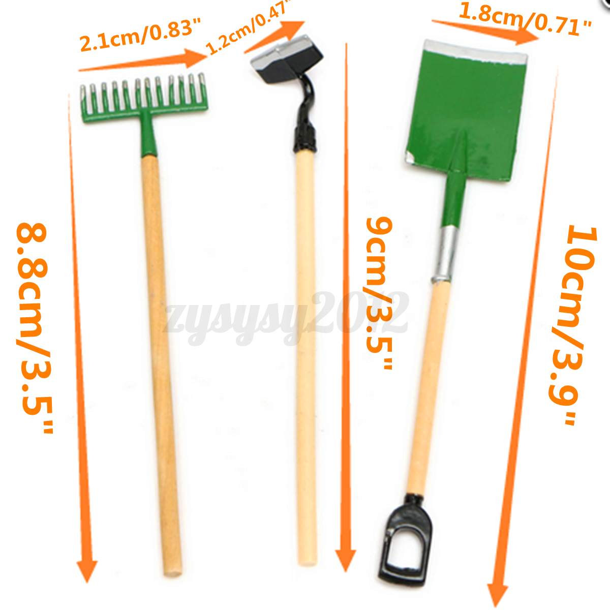 1 12 scale dolls house miniature garden accessory tools for Small garden tools set of 6