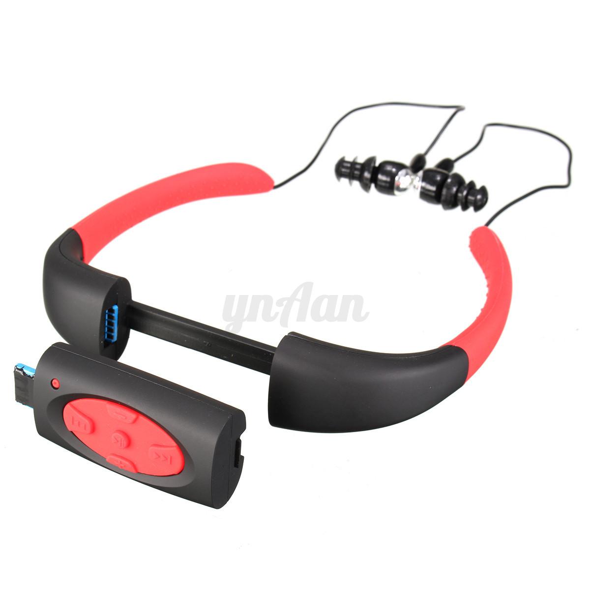 ipx8 4gb go etanche sport ecouteur intra auriculaires mp3 lecteur fm pr natation. Black Bedroom Furniture Sets. Home Design Ideas
