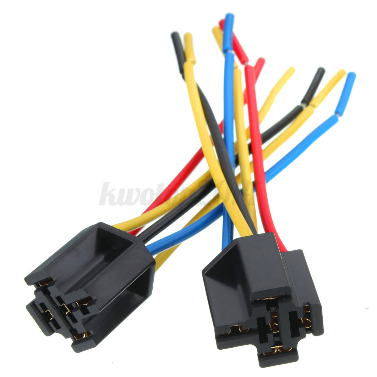 5pcs  Set 5 Pin Cable Wire Relay Socket Harness Connector