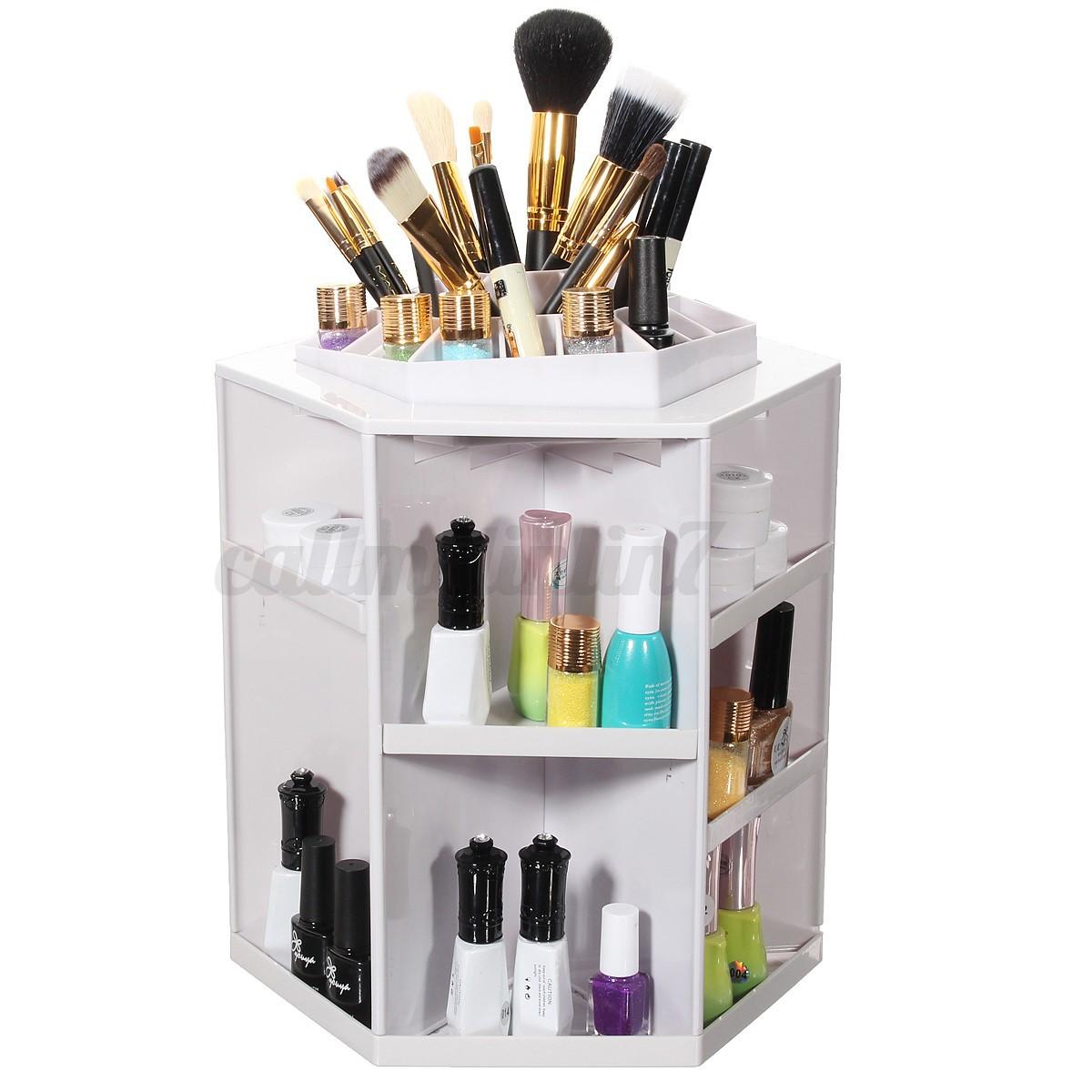 360 drehung diy kosmetik make up organizer aufbewahrung. Black Bedroom Furniture Sets. Home Design Ideas