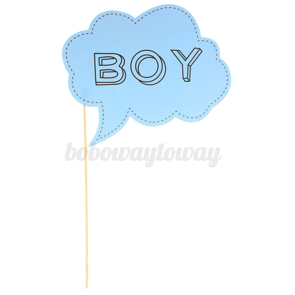 10pcs baby shower photo booth props party girl or boy little lady mini