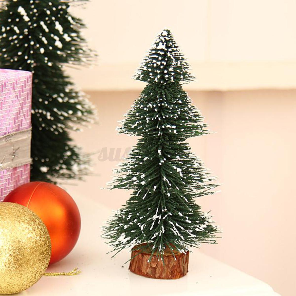 Mini Christmas Pine Tree Festival Party Ornaments Xmas