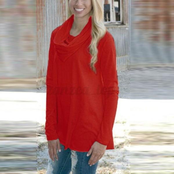 damen baumwolle langarmshirt long shirt bluse hemd top. Black Bedroom Furniture Sets. Home Design Ideas