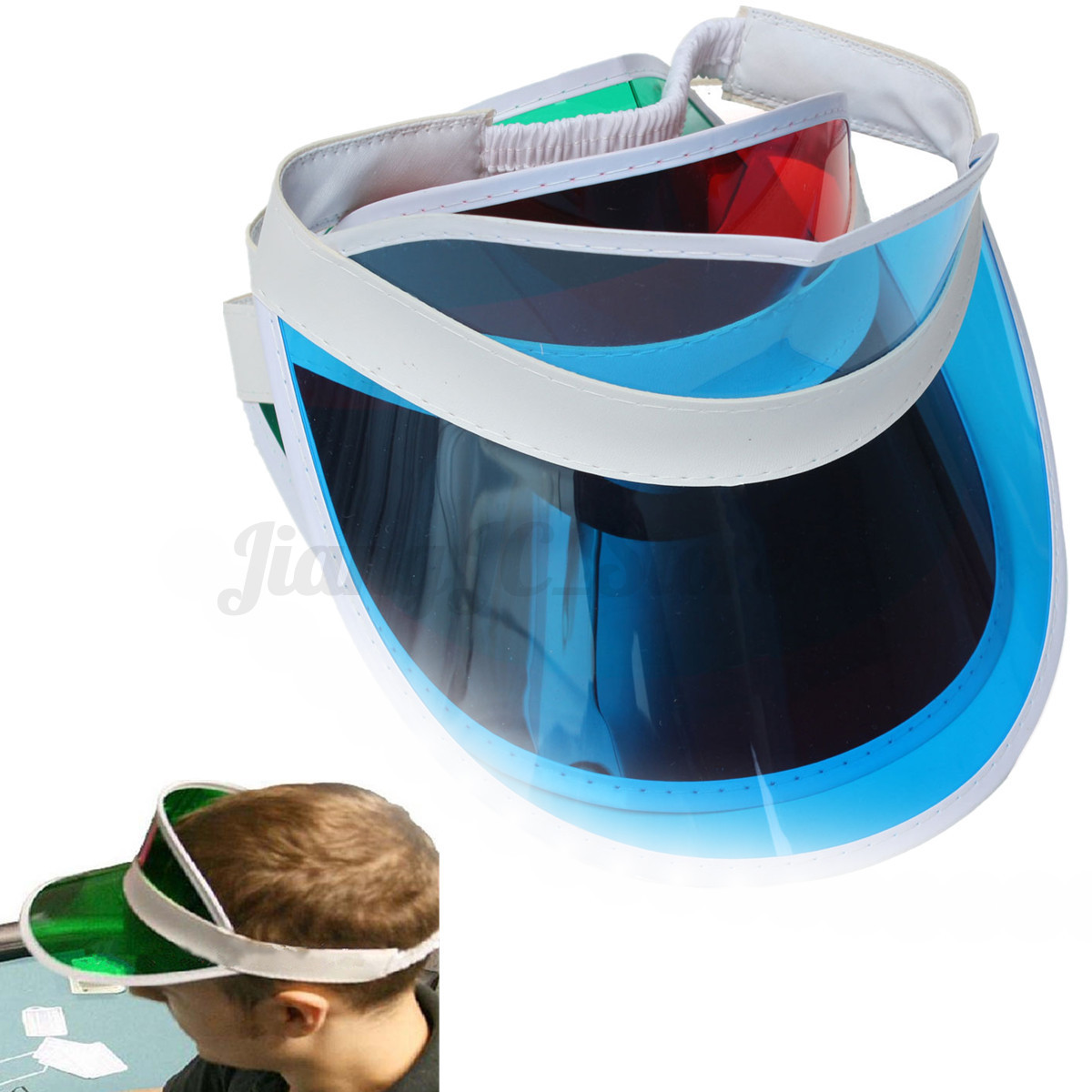 Poker green visor