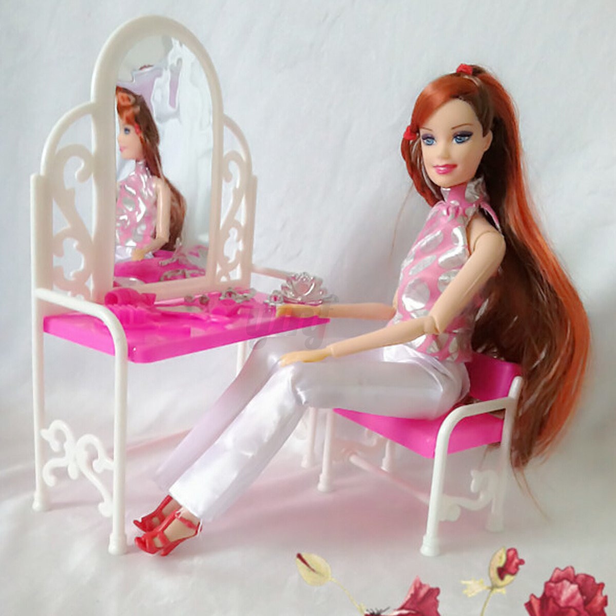 Dollhouse Miniature Furniture Accessories For Barbie Bathroom Living Room Toys | eBay