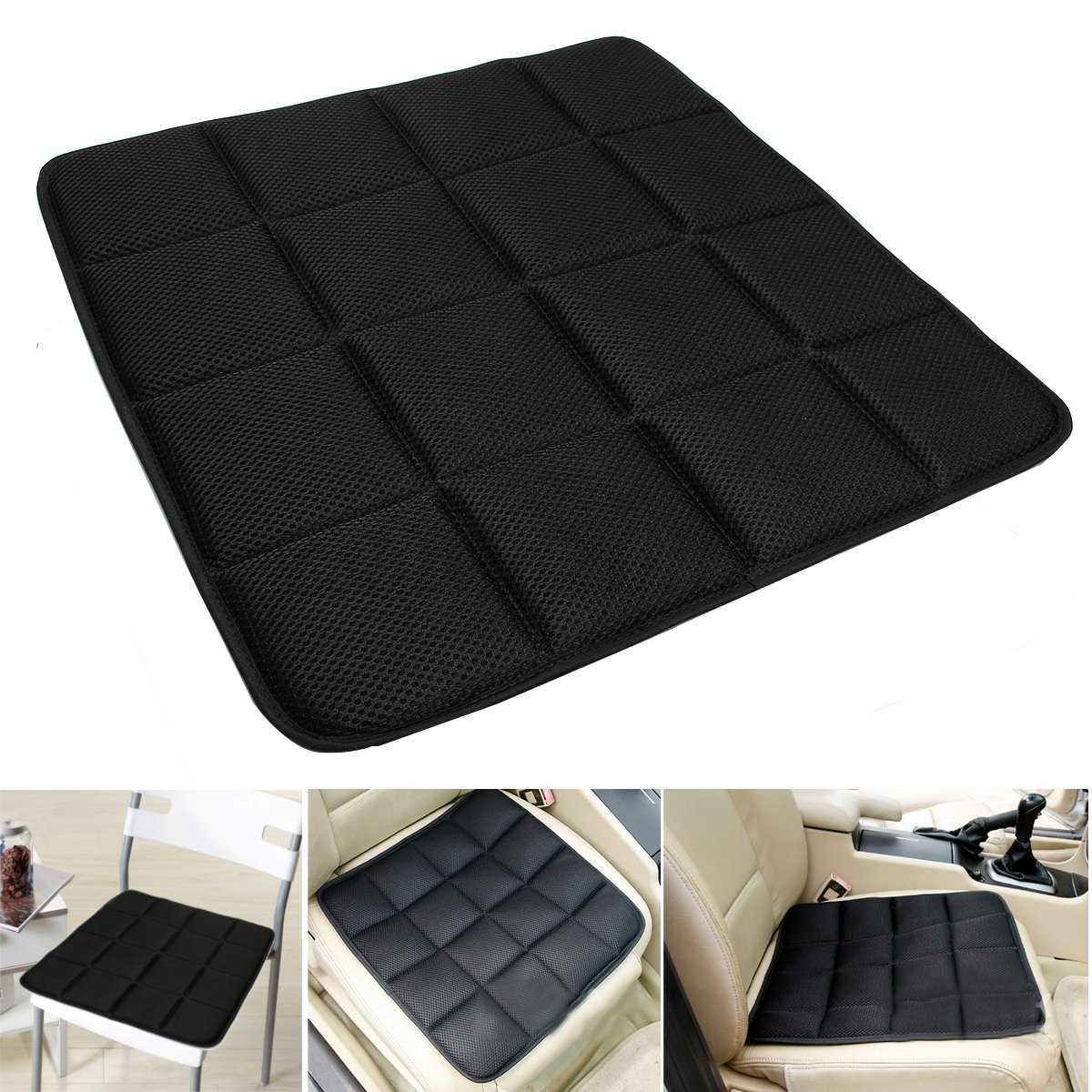 bamboo charcoal breathable seat cushion cover pad mat for car office chair black ebay. Black Bedroom Furniture Sets. Home Design Ideas