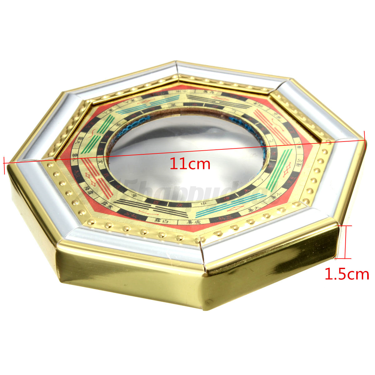 feng shui chinesischer bagua spiegel konvex holz. Black Bedroom Furniture Sets. Home Design Ideas