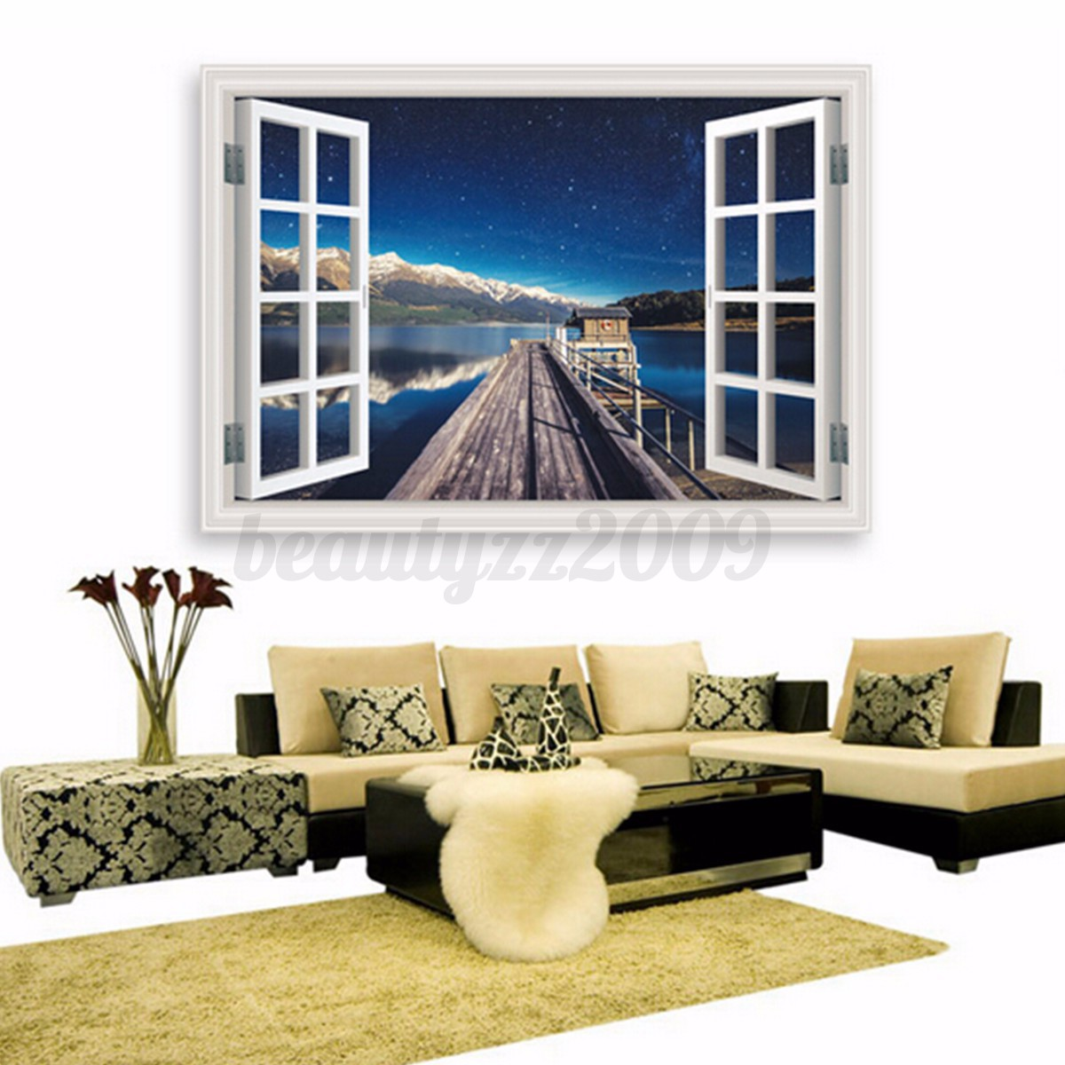 3d spiaggia assolata adesivo da parete arte wall sticker for Decorazione wall sticker