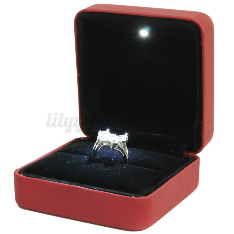 Ring Box Thin Thin engagement ring box wedding anniversary gift