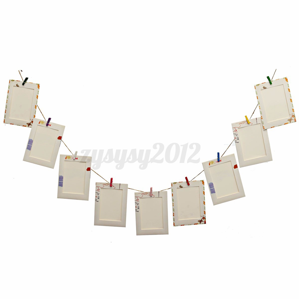 9pcs Paper Card Hanging Album Picture Photo Frame Gallery