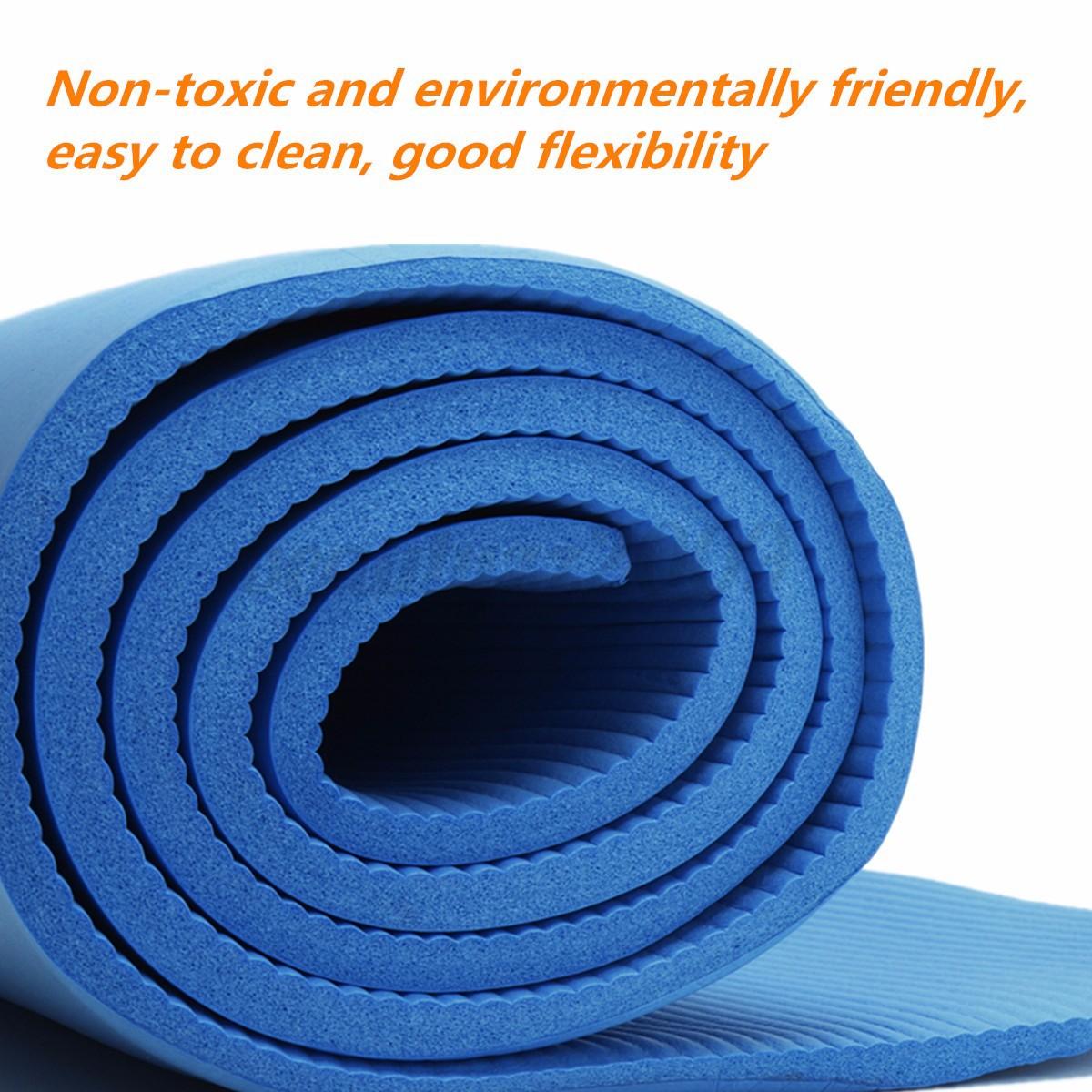 183x61cm 10mm Tappetino Yoga Spessore Mat Pilates Fitness