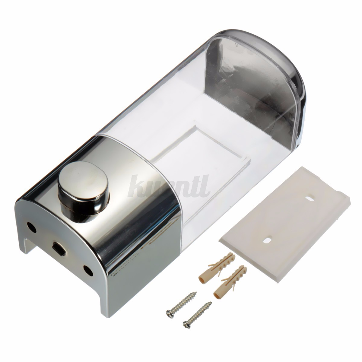 Dispensador de jab n montaje l quido 500ml montado en for Dispensador jabon ducha