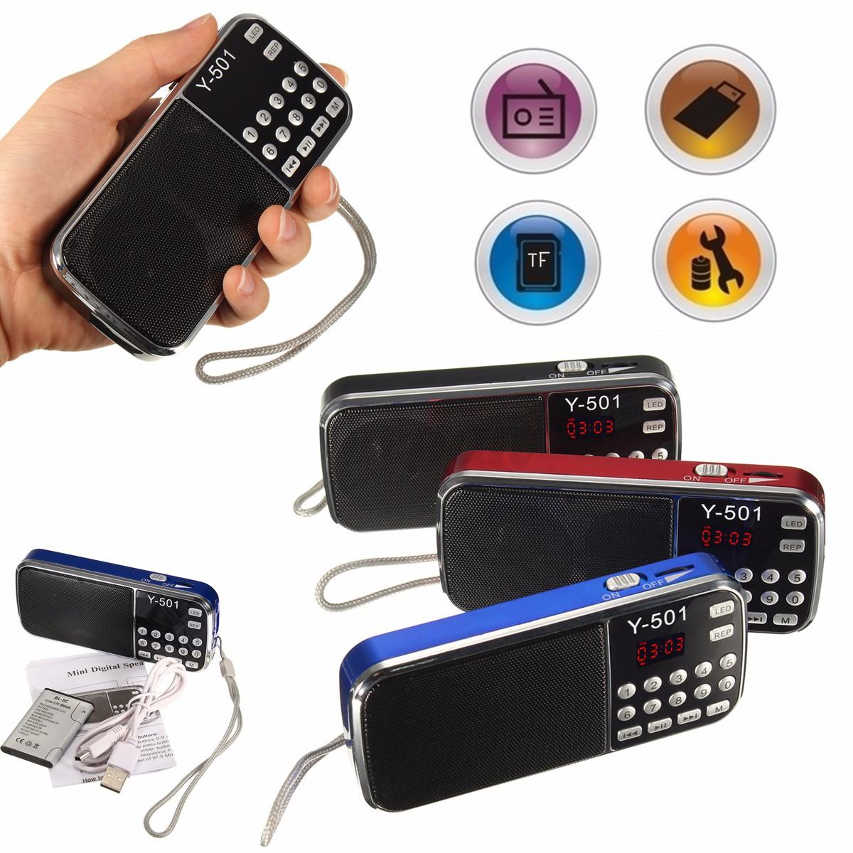 mini portable lcd digital fm radio speaker usb disk tf aux. Black Bedroom Furniture Sets. Home Design Ideas