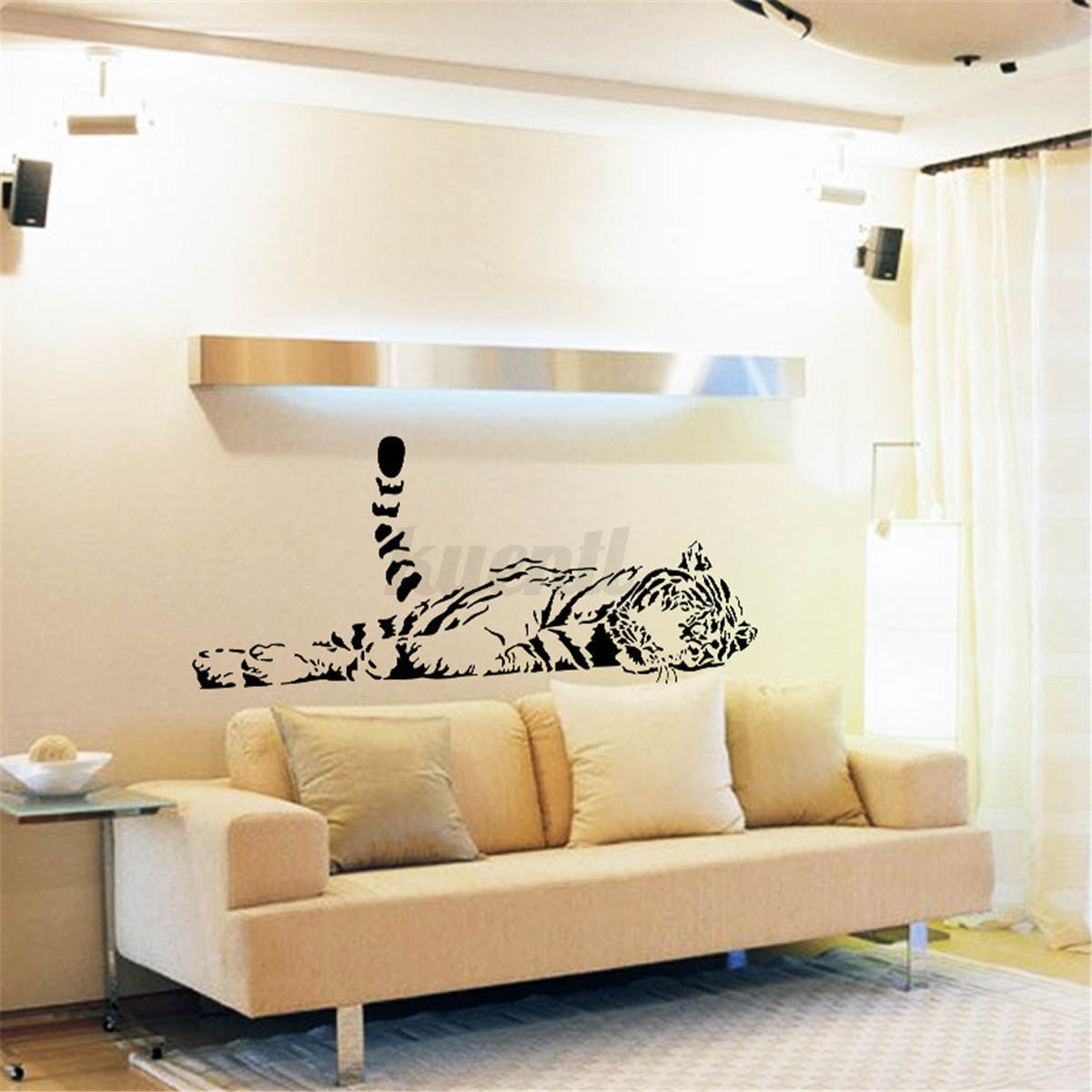 removible tigre pared pegatinas vinilo etiqueta decal mural decor casa decal ebay. Black Bedroom Furniture Sets. Home Design Ideas