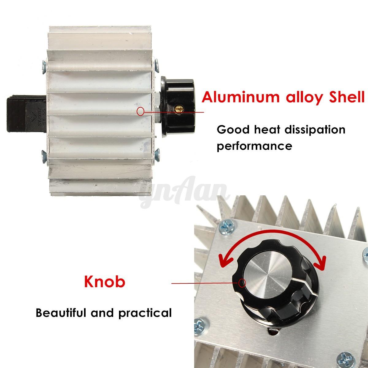 220v Ac 5000w Adjustable Scr Voltage Regulator Motor Speed