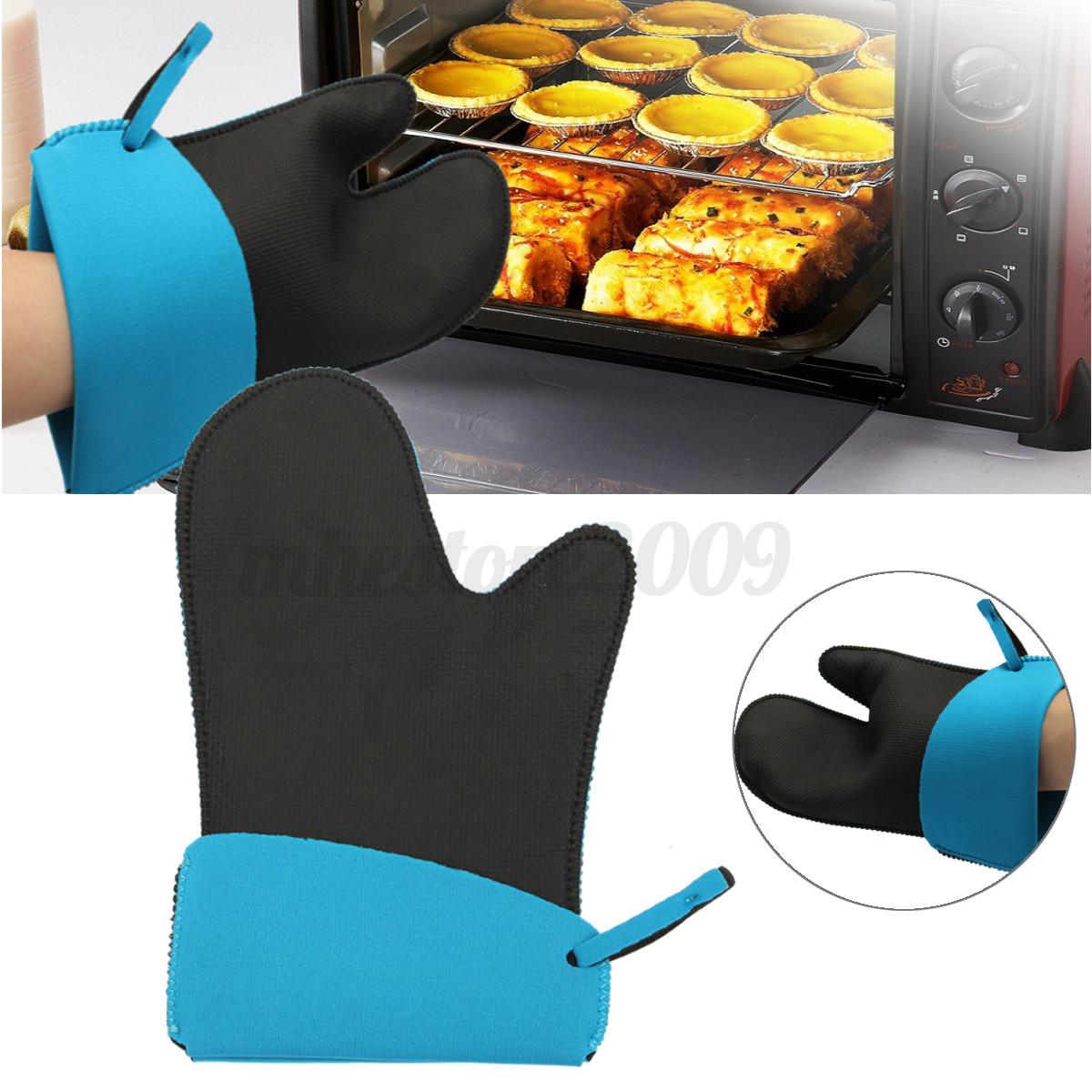 Kitchen Oven Mitts ~ Heat resistant neoprene kitchen glove oven pot holder