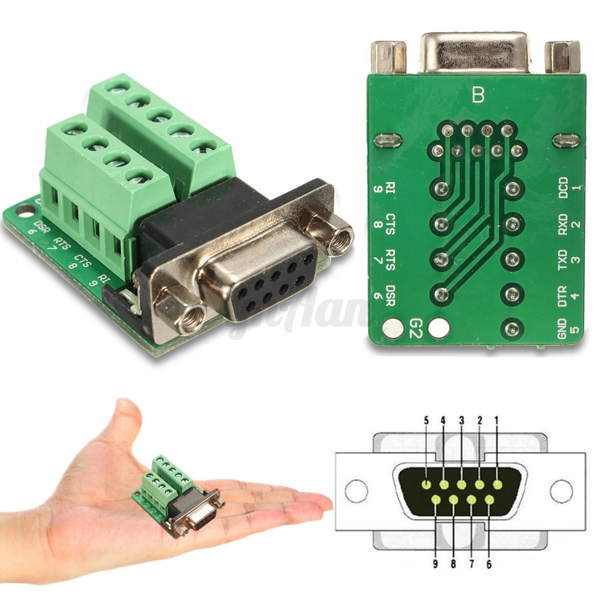 Connector db9 serial breakout