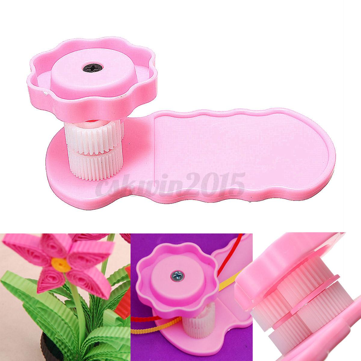 paper quilling crimper crimping tool plastic quilled creation craft art diy pink ebay. Black Bedroom Furniture Sets. Home Design Ideas