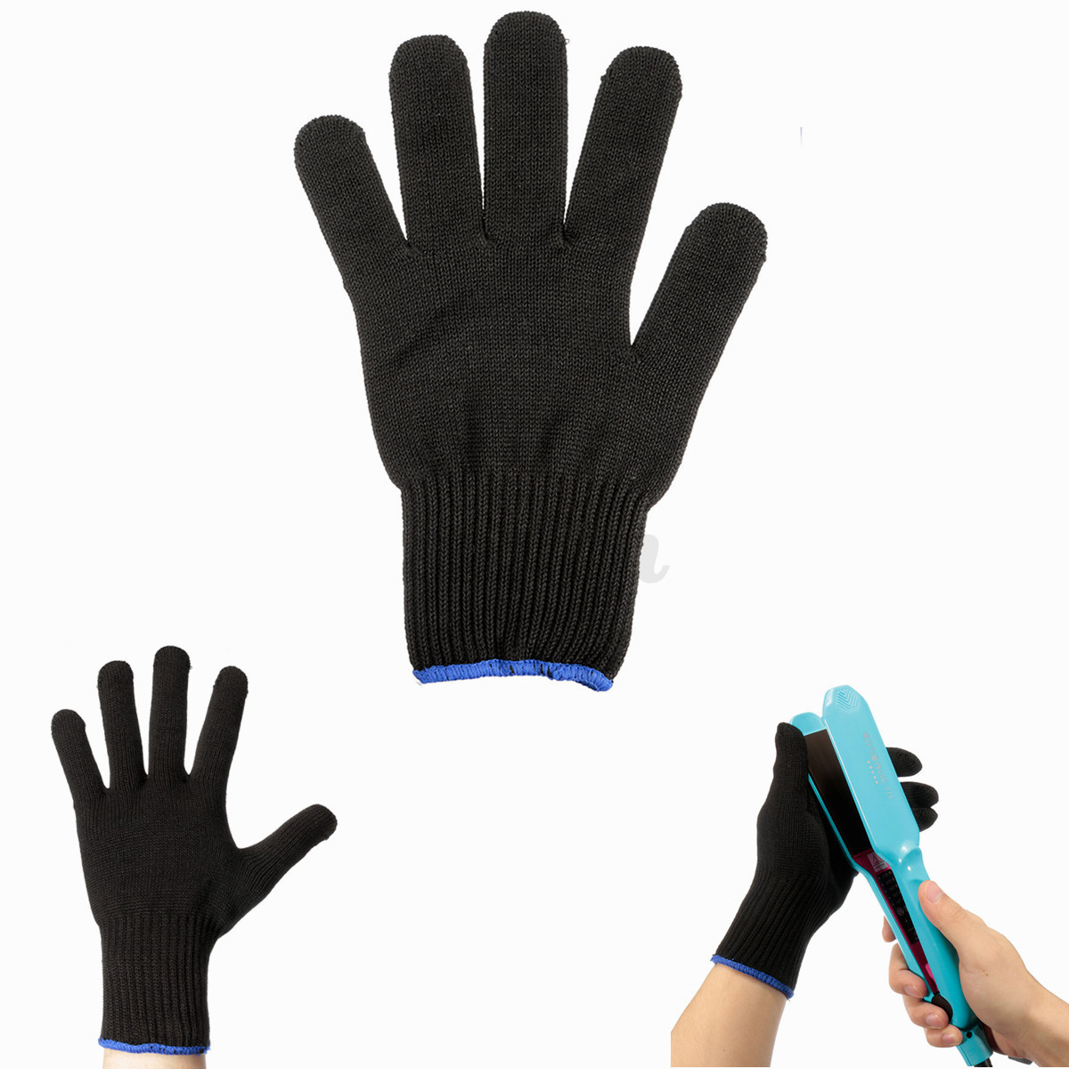 2 x Heat Resistant Glove Hair Styling Tool For Curling