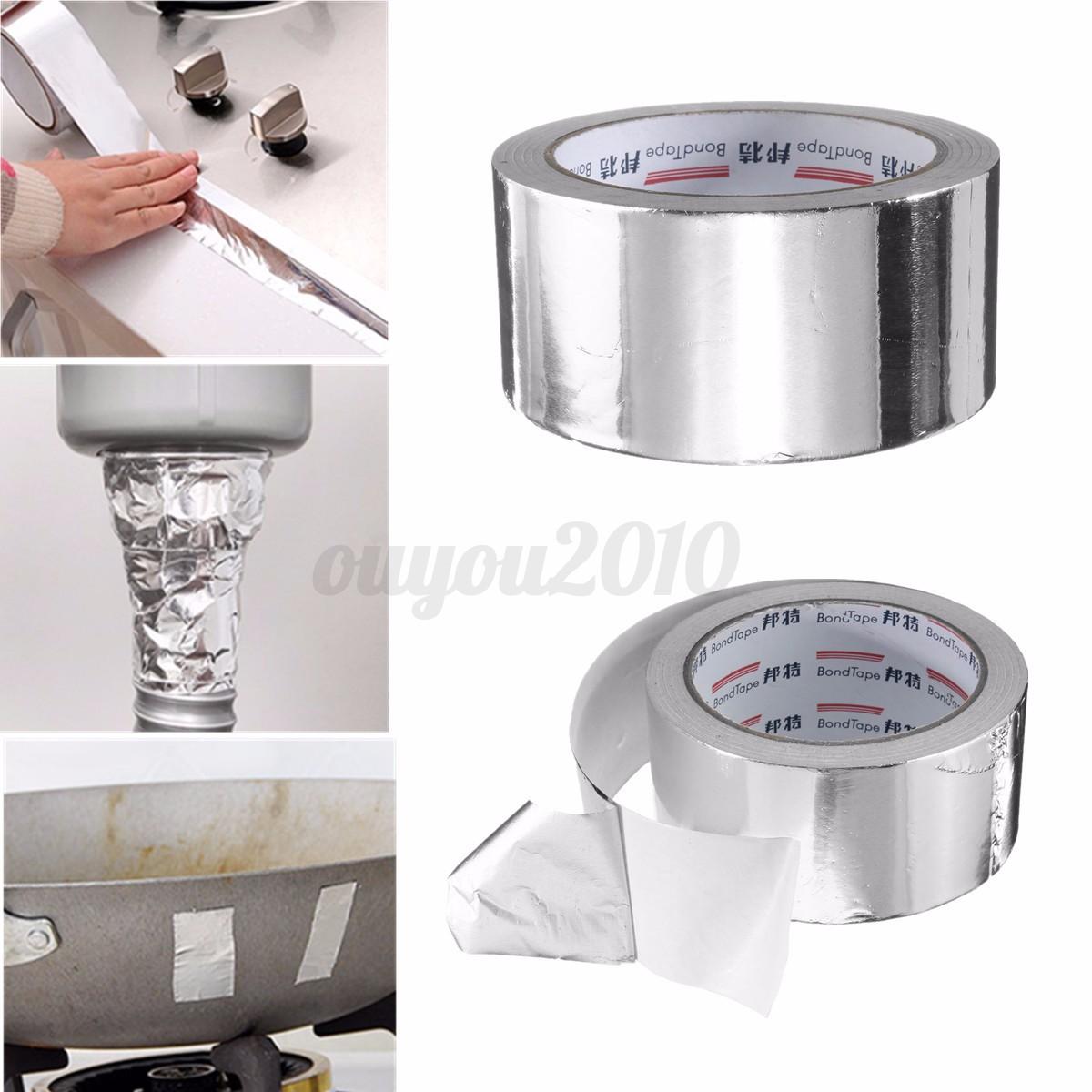 50mm x 25m aluminium bande ruban adh sif autocollante for Isolant fenetre adhesif