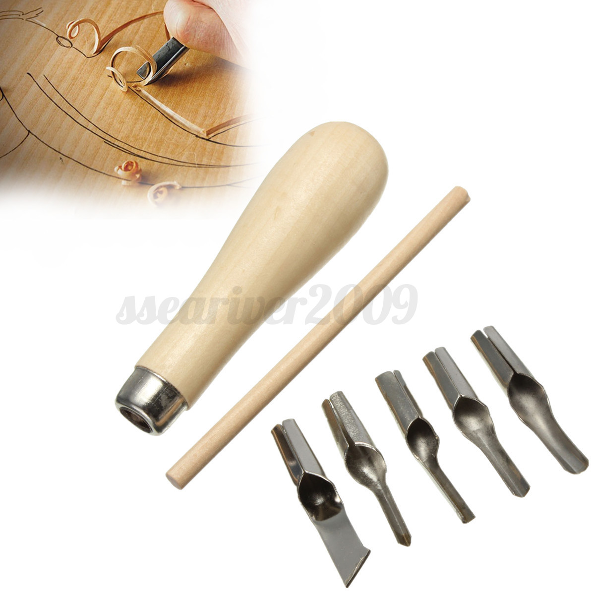 Lino block cutting rubber stamp carving tools with blade