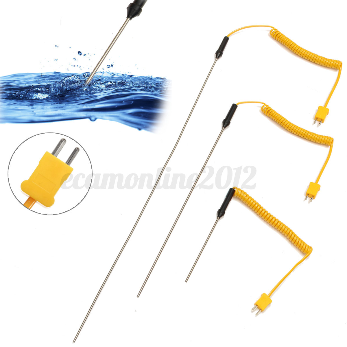 Type Thermocouple Probe Stainless Steel Temperature Controller Wire  #C18F0A