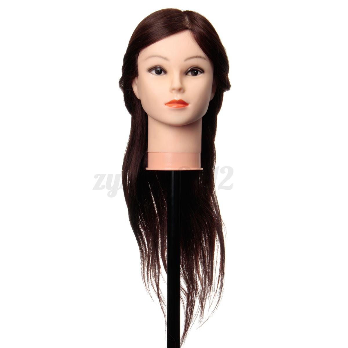 24 39 39 long brown 90 real human hair training head salon for Actual beauty salon