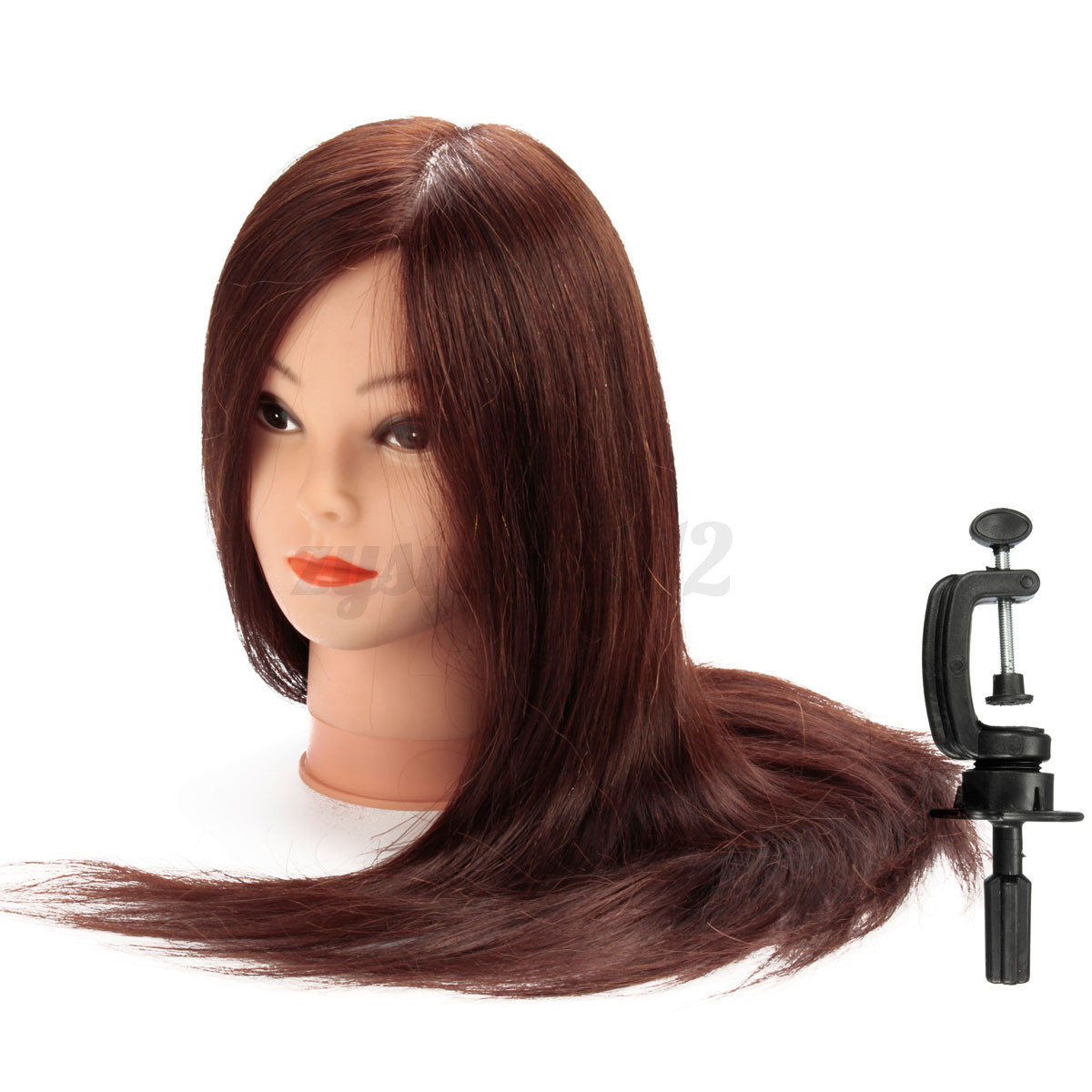 24 39 39 long brown 90 real human hair training head salon for Actual beauty salon