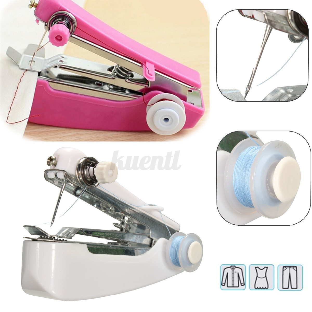 portable held sewing machine