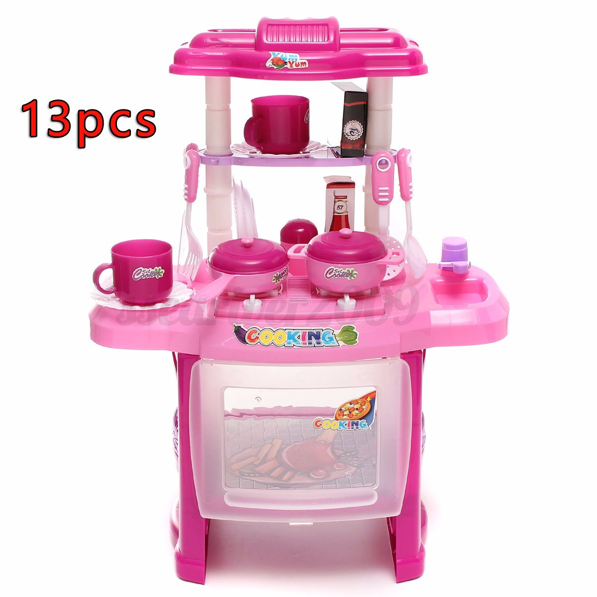 Toy Food And Dishes : Set kid pretend cooking play toy kitchen food dishes