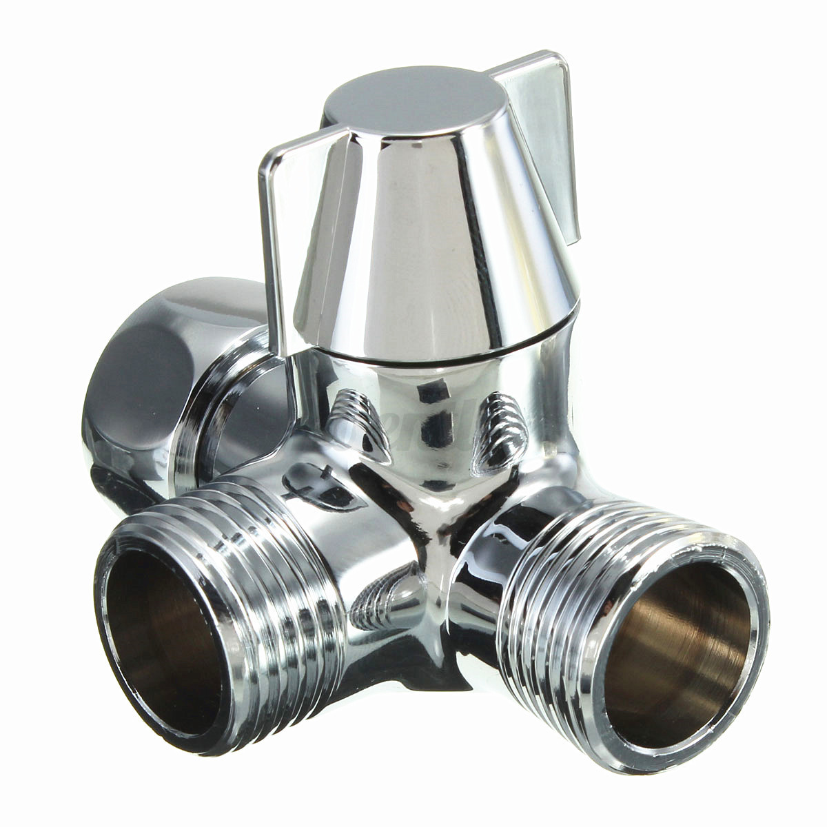 g1 2 brass 3 way shower head diverter valve faucet convert your hot and cold taps into an instant shower by