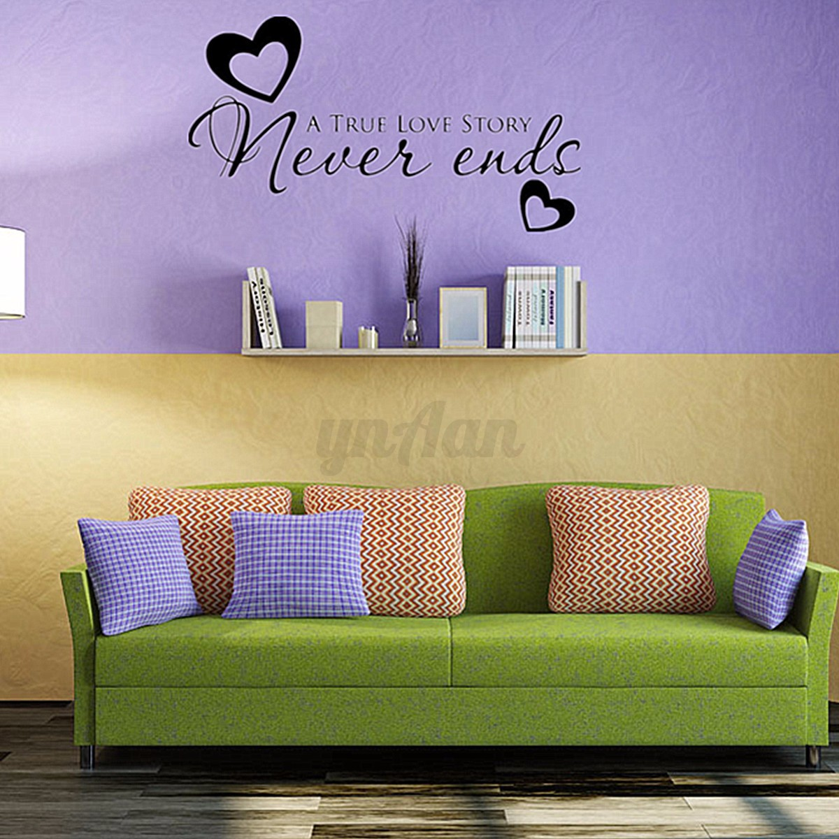 Fantastic A True Love Story Never Ends Wall Art Crest - The Wall Art ...