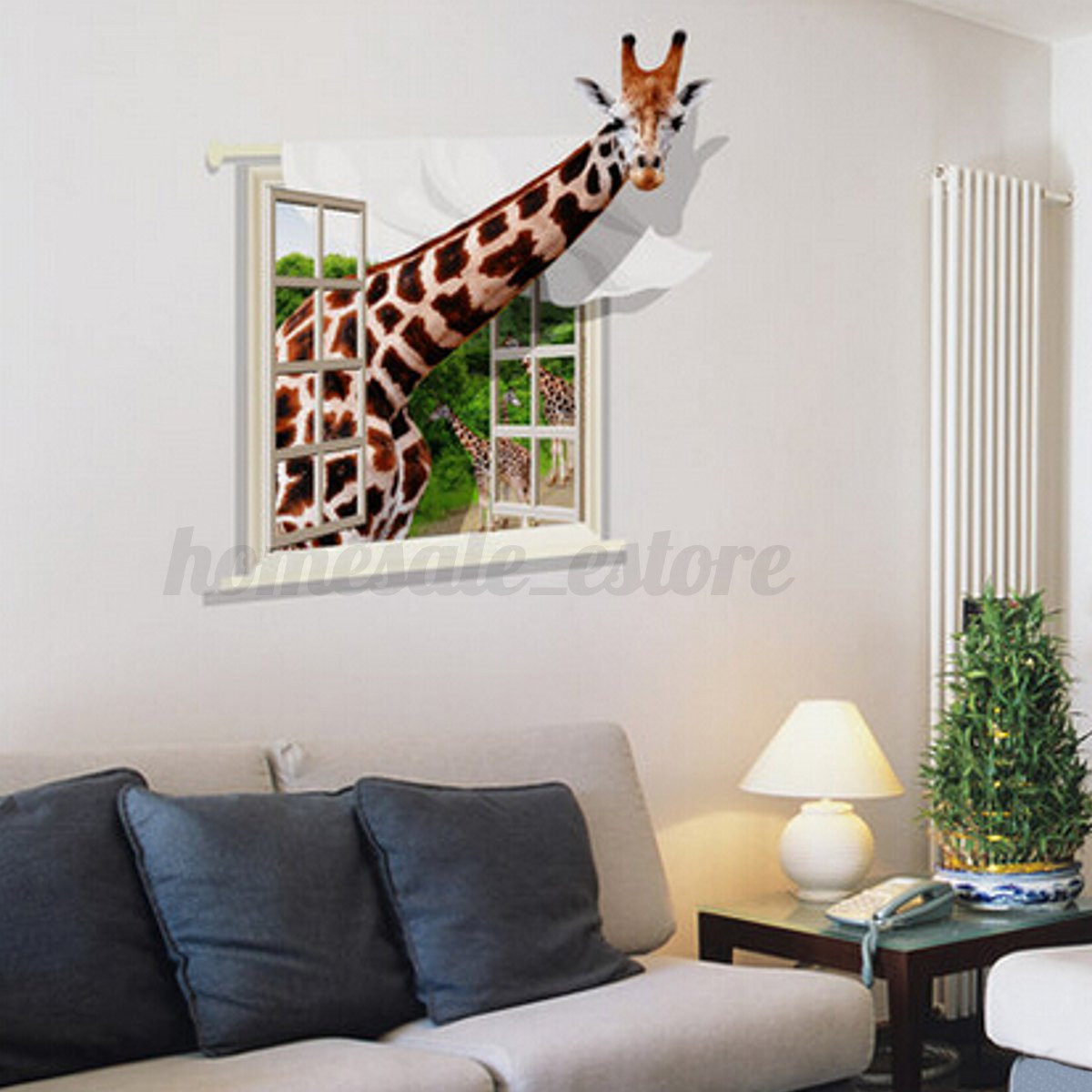 3d dinosaur animal window removable wall sticker mural art for Animal wall mural