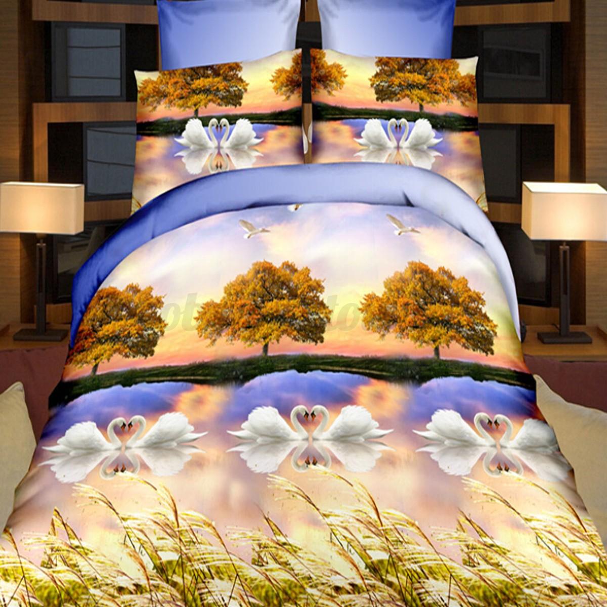 3d cr atif parure de lit couvre lit housse de couette taies oreiller lit draps ebay. Black Bedroom Furniture Sets. Home Design Ideas