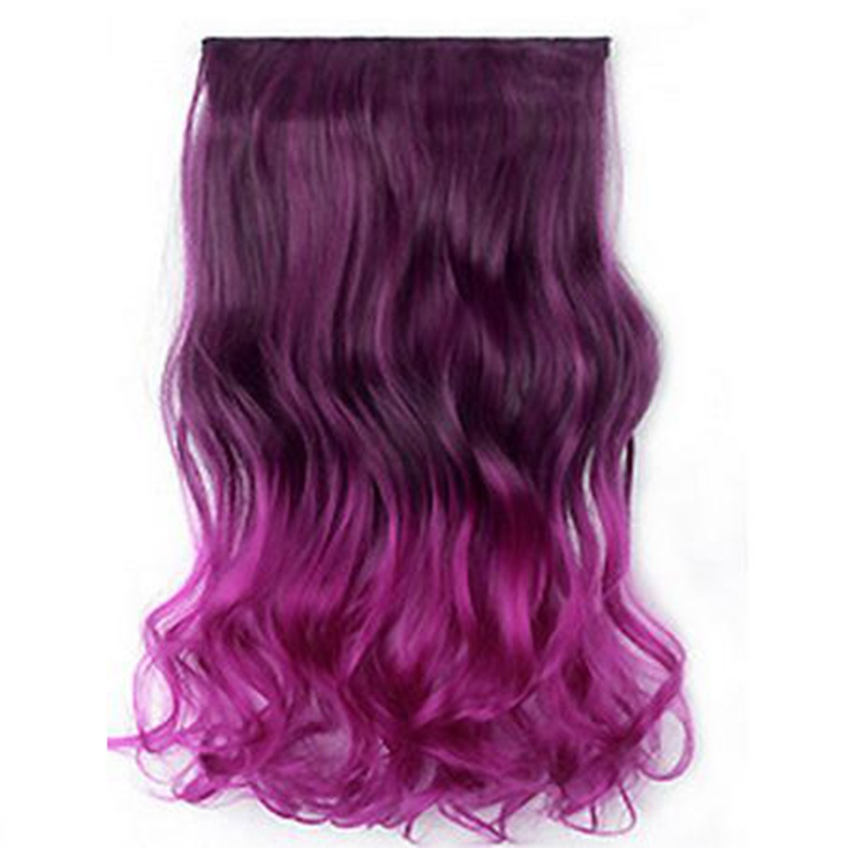 extensions cheveux clip perruque colore ondule boucle raide - Perruque Colore