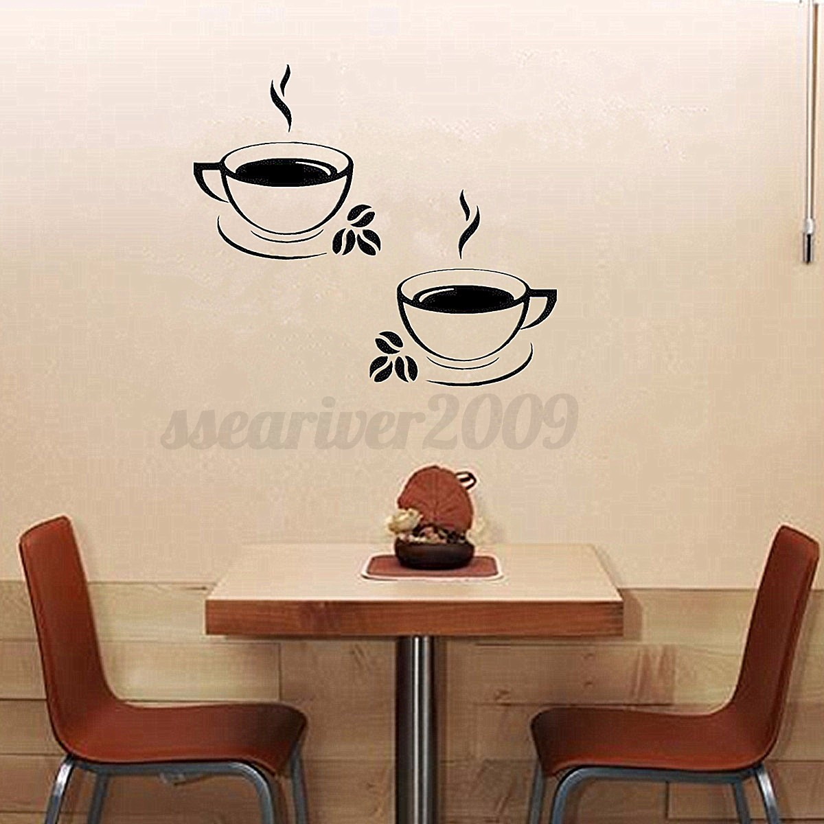 Coffee cups kitchen wall stickers art vinyl decal